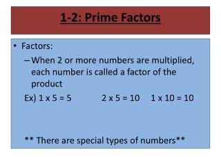 1-2: Prime Factors