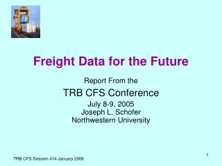 Freight Data for the Future