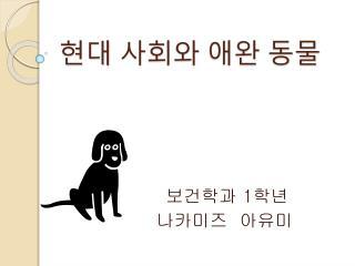 현대 사회와 애완 동물