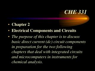 CHE 331