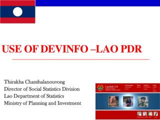 USE OF DEVINFO –LAO PDR