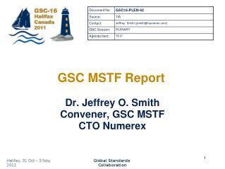 GSC MSTF Report
