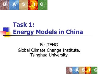 Task 1: Energy Models in China