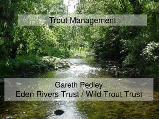 Gareth Pedley Eden Rivers Trust / Wild Trout Trust