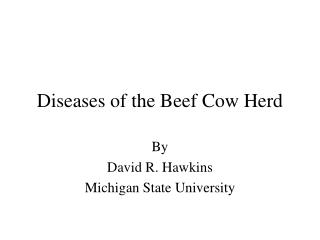 Diseases of the Beef Cow Herd