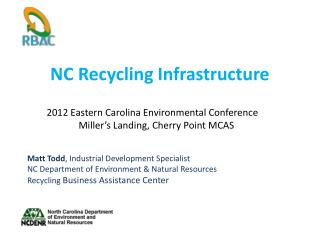NC Recycling Infrastructure