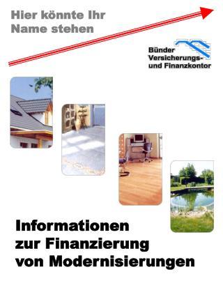 Informationen zur Finanzierung von Modernisierungen