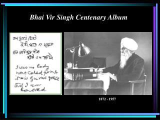 Bhai Vir Singh Centenary Album