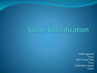 Scene Classification