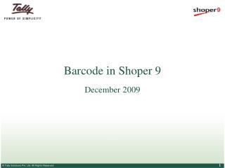 Barcode in Shoper 9