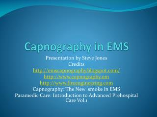 Capnography in EMS