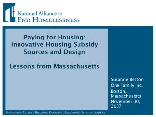 Paying for Housing:  Innovative Housing Subsidy Sources and Design Lessons from Massachusetts