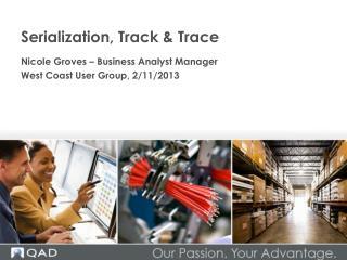 Serialization, Track & Trace