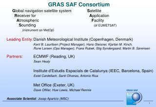 GRAS SAF Consortium