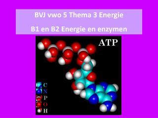 BVJ  vwo  5  Thema  3  Energie B1 en B2  Energie  en  enzymen