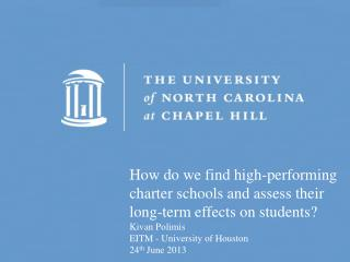 How do we find high-performing charter schools and assess their long-term effects on students?