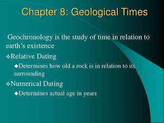 Chapter 8: Geological Times
