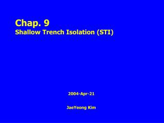 2004-Apr-21 JaeYeong Kim