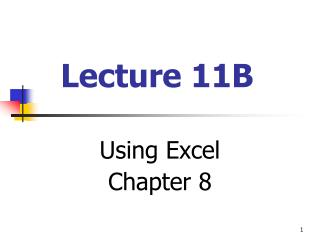 Lecture 11B