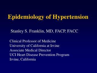 Epidemiology of Hypertension