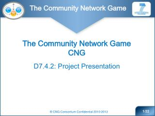 The Community Network Game CNG