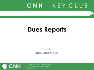 Dues Reports