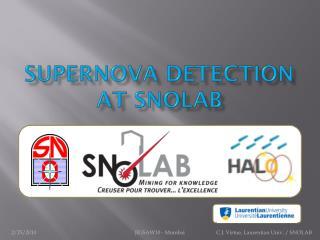Supernova detection at SNOLAB