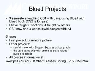BlueJ Projects
