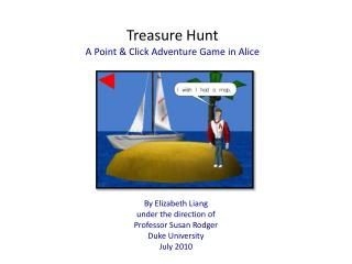 Treasure Hunt A Point & Click Adventure Game in Alice