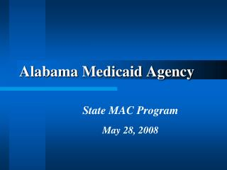 Alabama Medicaid Agency