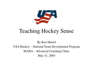 Teaching Hockey Sense