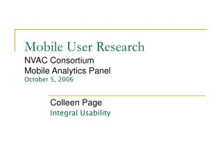Mobile User Research