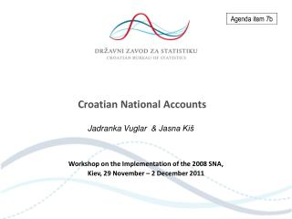 Croatian National Accounts