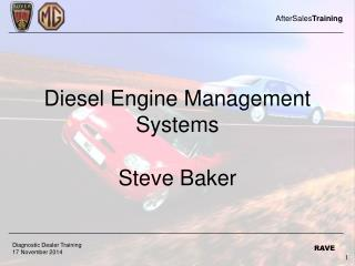 Diesel Engine Management Systems