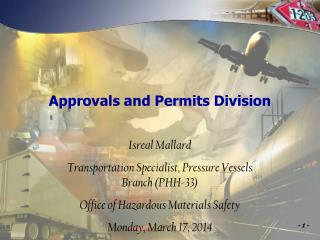 Approvals and Permits Division