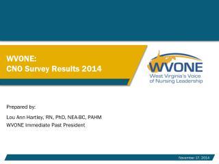 WVONE: CNO Survey Results 2014