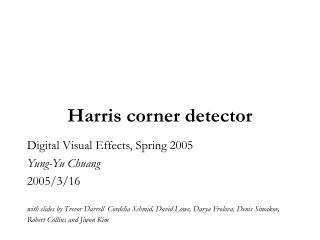 Harris corner detector