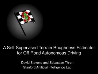 A Self-Supervised Terrain Roughness Estimator for Off-Road Autonomous Driving