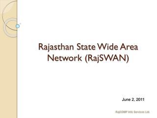 Rajasthan State Wide Area Network ( RajSWAN )