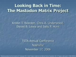 TSTA Annual Conference Nashville November 17, 2006