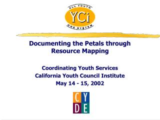 Documenting the Petals through Resource Mapping Coordinating Youth Services