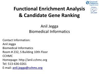 Functional Enrichment Analysis & Candidate Gene Ranking