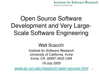 Open Source Software Development and Very Large-Scale Software Engineering