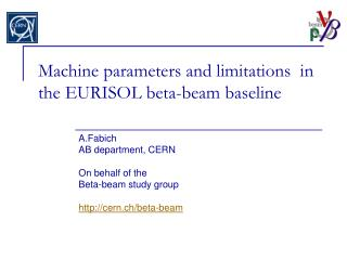 Machine parameters and limitations  in the EURISOL beta-beam baseline