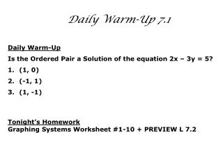 Daily Warm-Up 7.1
