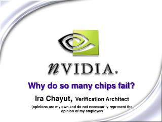 Why do so many chips fail?