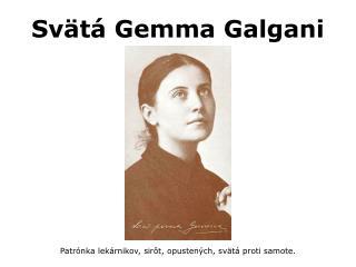 Sv t  Gemma Galgani