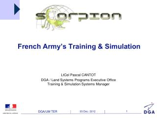 French Army�s Training & Simulation