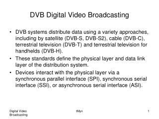 DVB Digital Video Broadcasting
