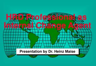 HRD Professional as  Internal Change Agent